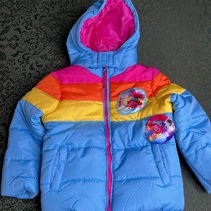NWt 5T 5 RAINBOW Trolls winter coat jacket puffer